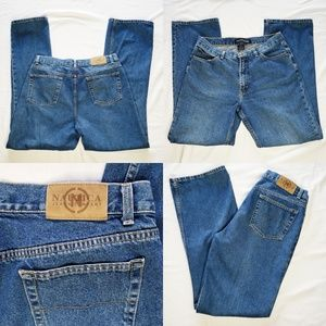 Vintage Nautica Mom High Waisted blue Denim Wash